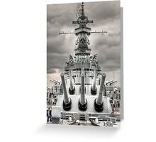 USS Alabama Greeting Card