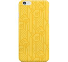 Lemon Yellow Volute Art Deco Pattern iPhone Case/Skin