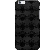Black Art Deco Ginkgo Pattern iPhone Case/Skin