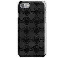 Black Art Deco Ginkgo Pattern iPhone Case/Skin