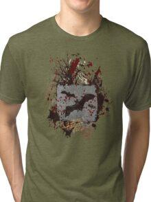 Vampire Bats - Blood Splatters - Grunge Tri-blend T-Shirt