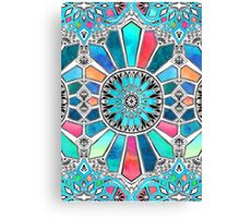 Iridescent Watercolor Brights on White Canvas Print