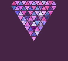 Berry Purples - Triangle Patchwork Pattern T-Shirt