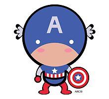 Cute Captain America by Adriana Cruz Berdecia