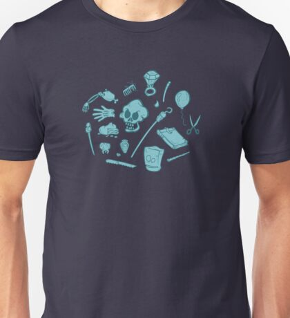 The Curse of Monkey Island Inventory (blue) Unisex T-Shirt