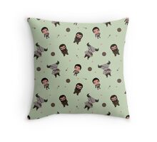 Cute Warrior Party Pattern  Throw Pillow