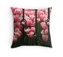 A prison for tulips!!! Throw Pillow