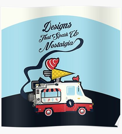 Nuance Retro: Ice Cream Truck Time Machine   Poster