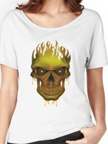 Flame Skull - Gold Women's Relaxed Fit T-Shirt
