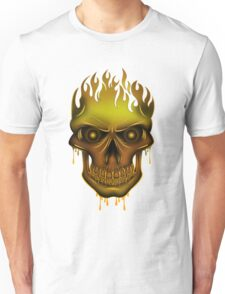 Flame Skull - Gold T-Shirt