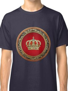 Prince-Princess King-Queen Crown [Gold] Classic T-Shirt