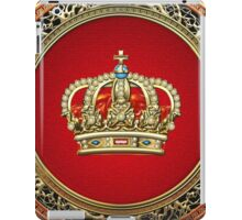 Prince-Princess King-Queen Crown [Gold] iPad Case/Skin