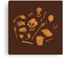 The Curse of Monkey Island Inventory (brown) Canvas Print