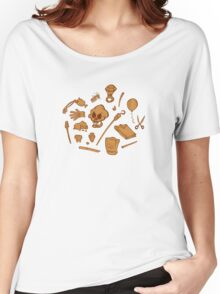 The Curse of Monkey Island Inventory (brown) Women's Relaxed Fit T-Shirt