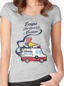 Nuance Retro: Ice Cream Truck Time Machine   Women's Fitted Scoop T-Shirt