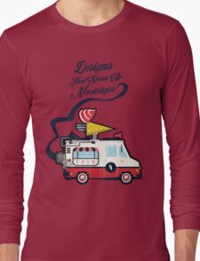Nuance Retro: Ice Cream Truck Time Machine   Long Sleeve T-Shirt