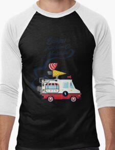 Nuance Retro: Ice Cream Truck Time Machine   Men's Baseball ¾ T-Shirt