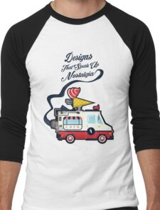 Nuance Retro: Ice Cream Truck Time Machine   Men's Baseball ¾ T-Shirt