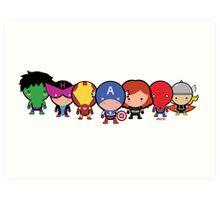 The Cute Avengers Art Print