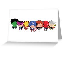 Cute Avengers Greeting Card