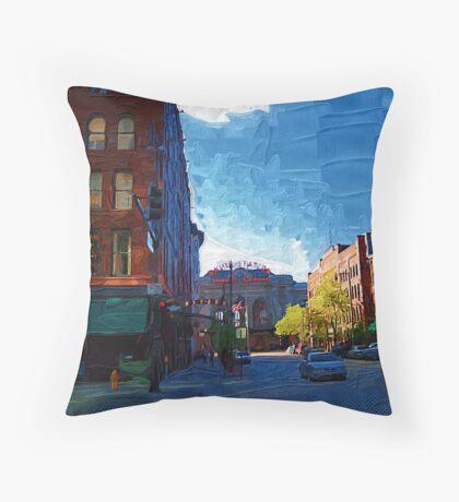 17th Street Throw Pillow