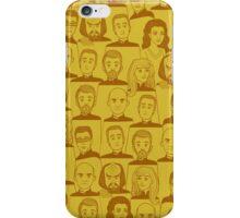 Star Trek Next Generation Characters Yellow iPhone Case/Skin