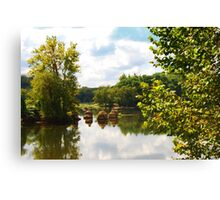 James River In Late Summer Canvas Print
