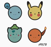 Cute Starter Pokemon Kids Clothes