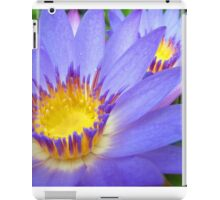 Purple & Yellow Lotus iPad Case/Skin