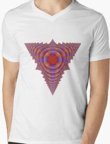 tetrahedron Mens V-Neck T-Shirt