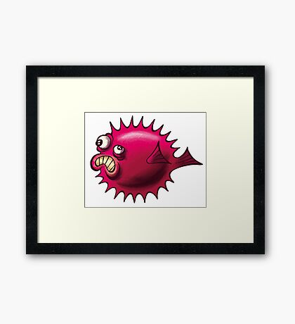 Grumpy Fish Framed Print