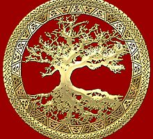 Celtic Tree of Life, Yggdrasil  [Gold] by Serge Averbukh
