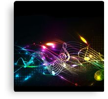 Music Notes in Color for Music-lovers Canvas Print