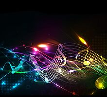 Music Notes in Color for Music-lovers by NaturePrints