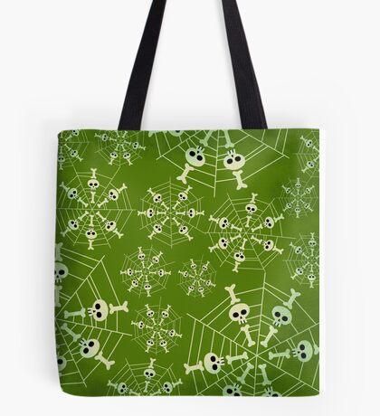 Green Skeleton Web Tote Bag
