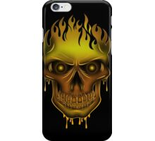 Flame Skull - Gold (2) iPhone Case/Skin