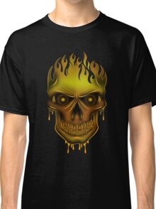 Flame Skull - Gold (2) Classic T-Shirt