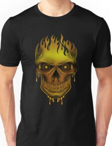 Flame Skull - Gold (2) T-Shirt