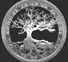 Celtic Tree of Life, Yggdrasil [Silver] by Serge Averbukh