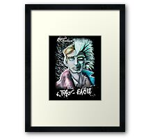Punk Rock Two-Face Framed Print