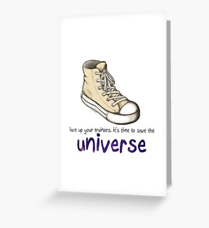 lace up your trainers Greeting Card
