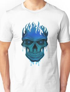 Flame Skull - Blue T-Shirt