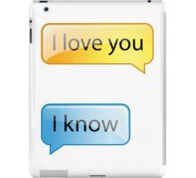 i love you text iPad Case/Skin