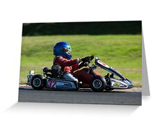 great light whilst Karting Greeting Card