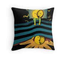 Lovely Day and Night Throw Pillow