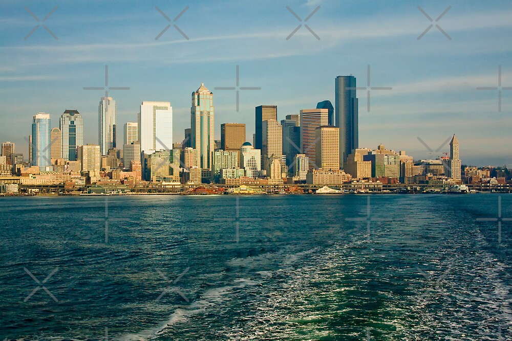 Seattle Skyline from Ferry Boat by Stacey Lynn Payne