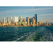 Seattle Skyline from Ferry Boat Photographic Print