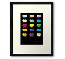 Every emotion beans Framed Print