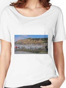 Fishing Boat Harbour, Kodiak, Alaska Women's Relaxed Fit T-Shirt