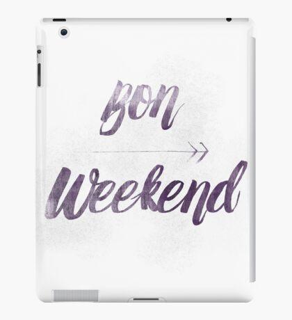 Bon Weekend Grungy lettering iPad Case/Skin